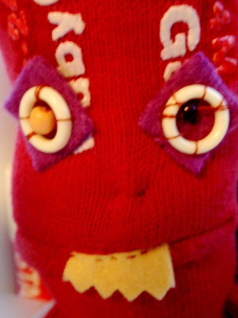 Detail of Baby Gap sock doll