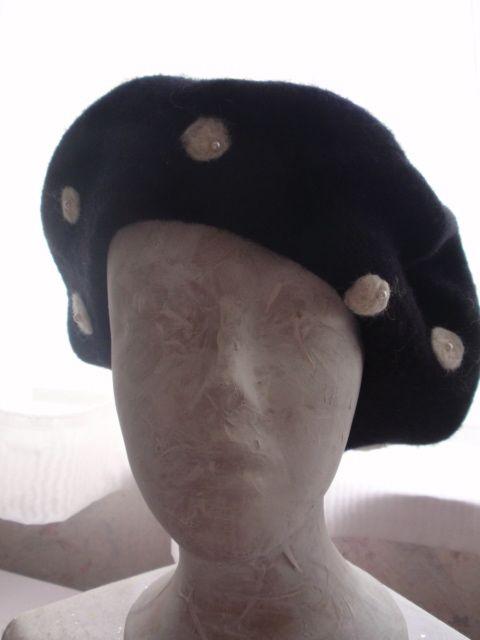 Black beret, full face view