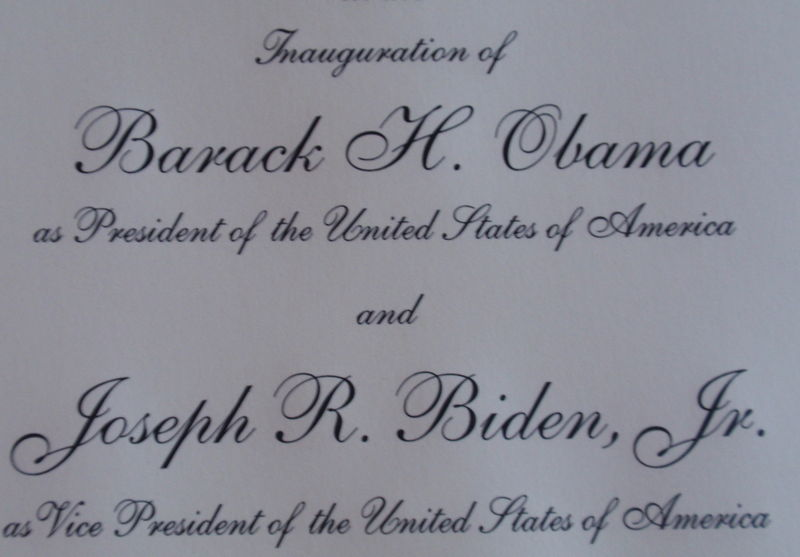 Close up of invite