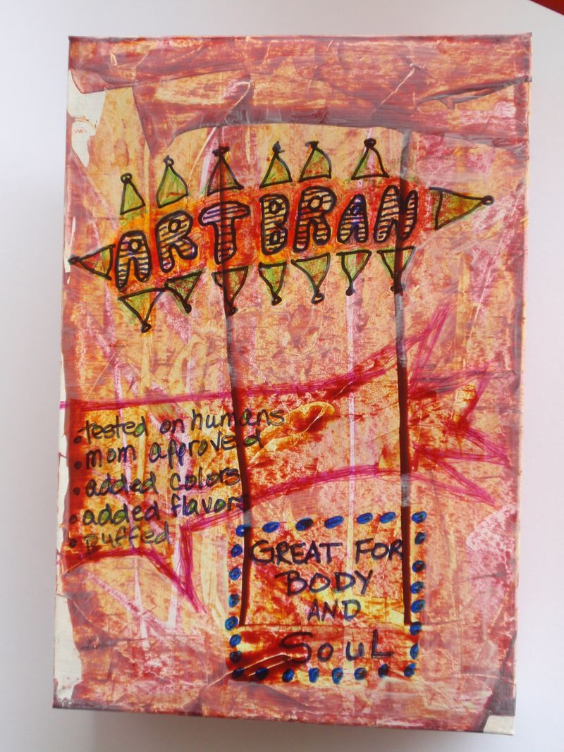 Artbran cereal box