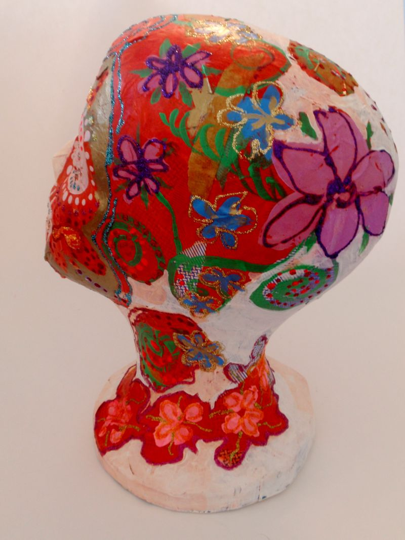 Day of the Dead Head, rear view