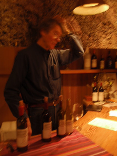 Henri of White Rock Winery gives a tasting