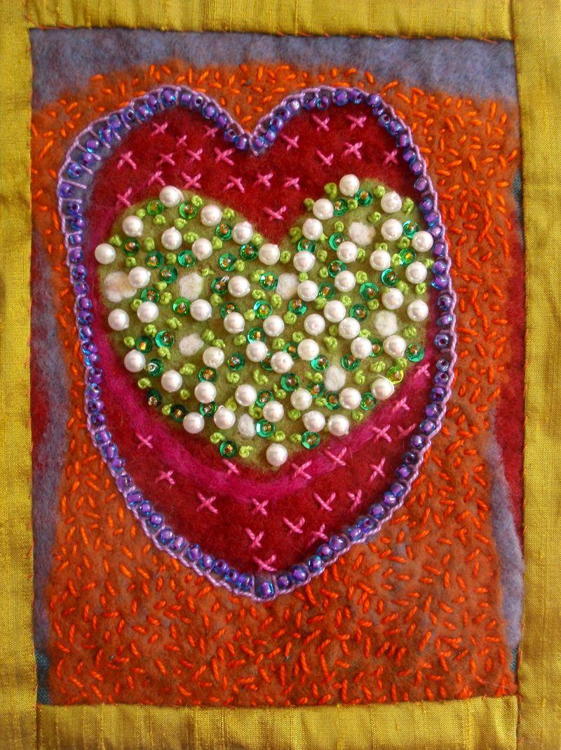 Beaded heart 2