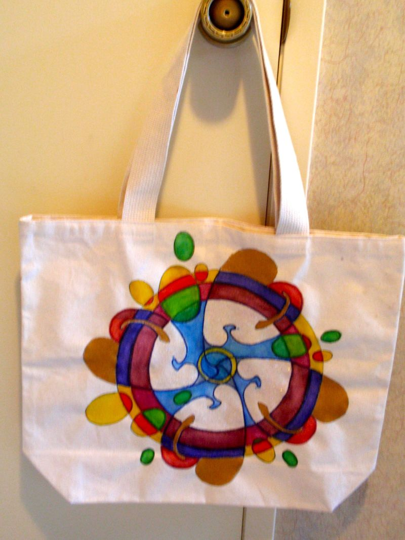Shopping bag with %22egg%22 mandala