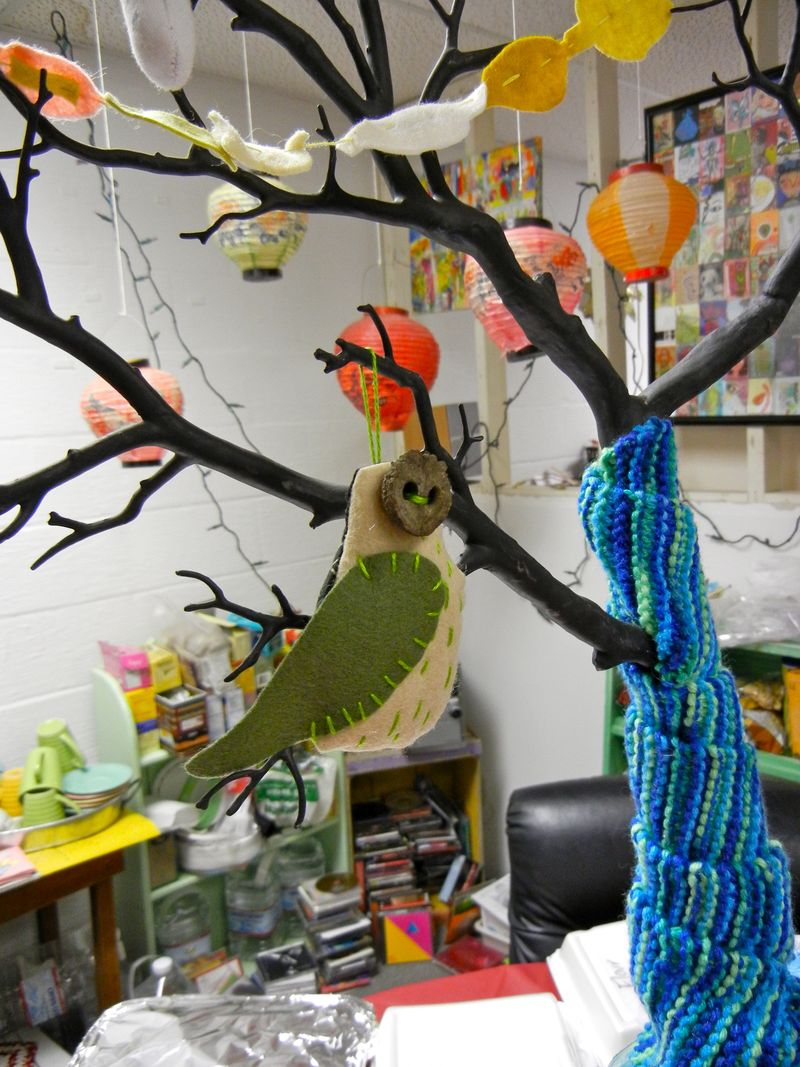 Syd's owl on her AC tree