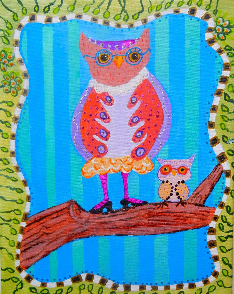 Completed, Mrs Owl and Sonny