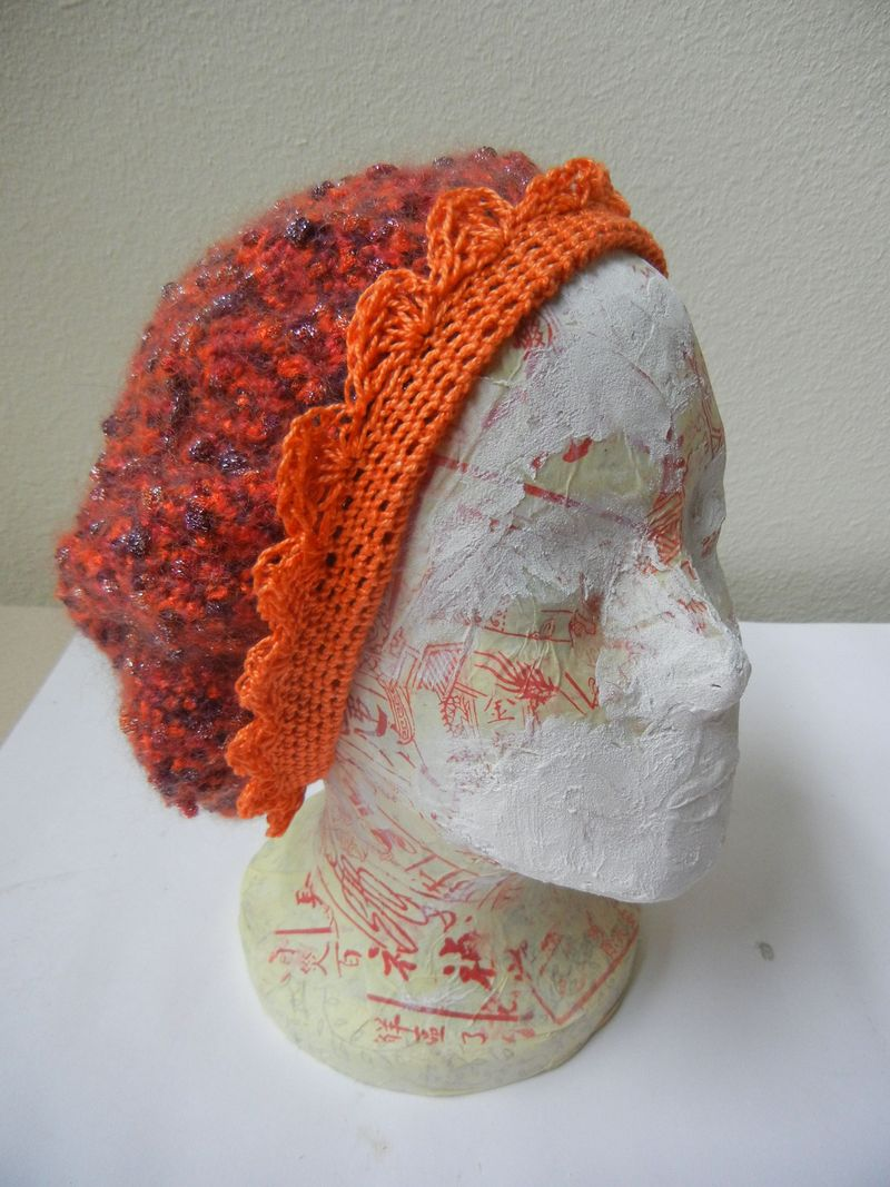 Crochet with orange edge