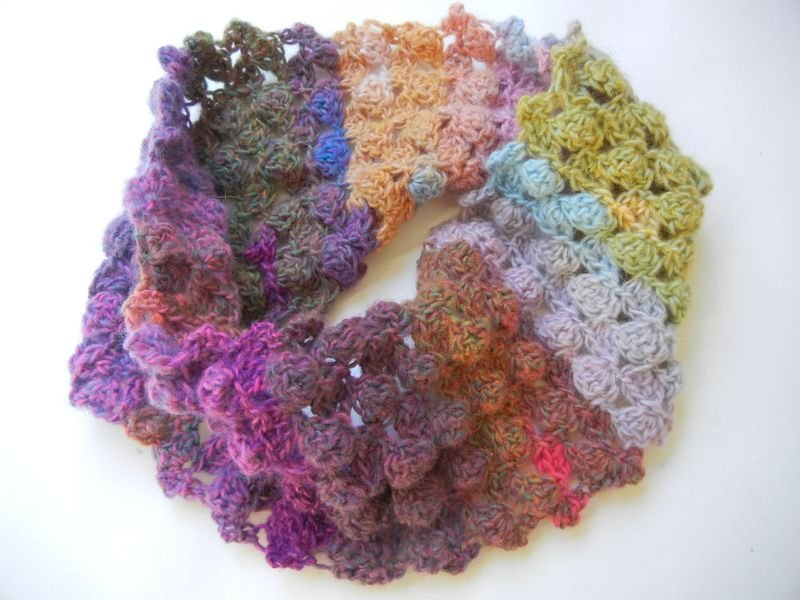 Take three crochet cowl