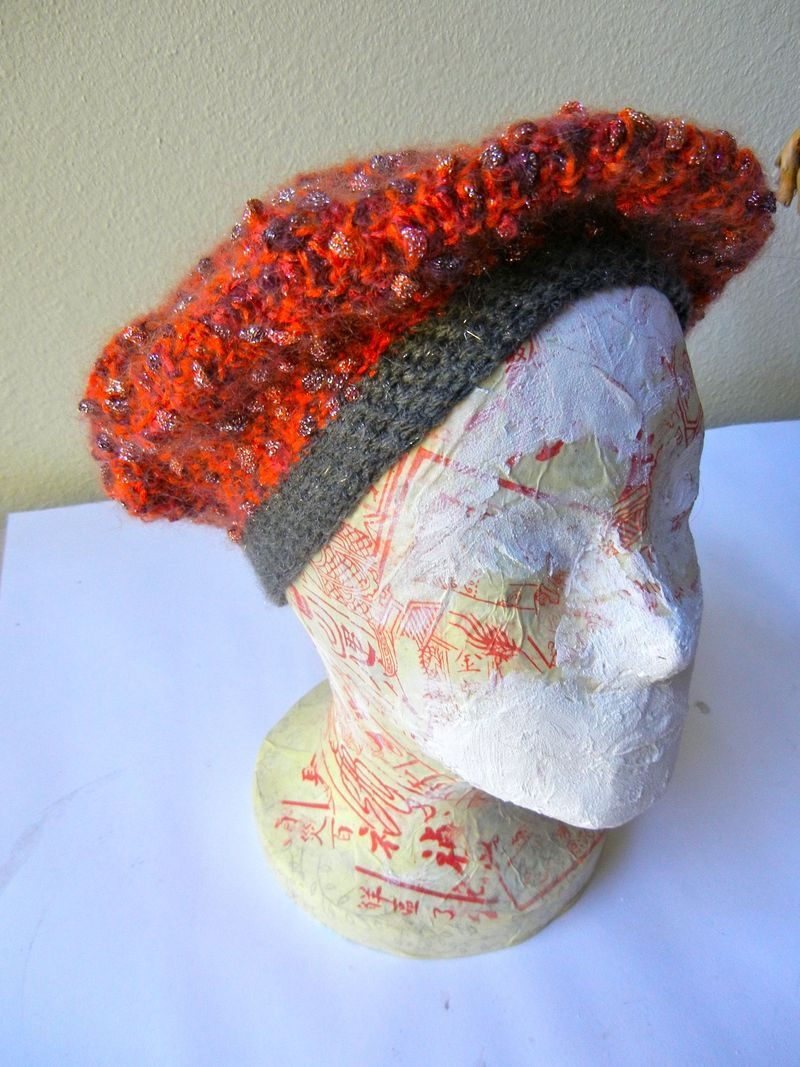 Another view of orange hat