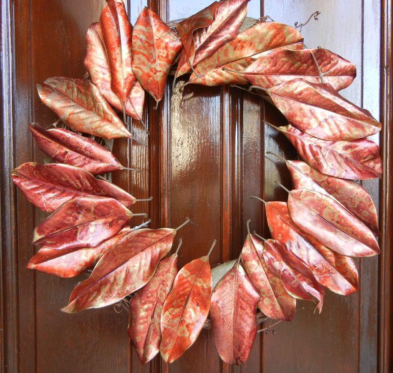 Holiday Wreath on Door