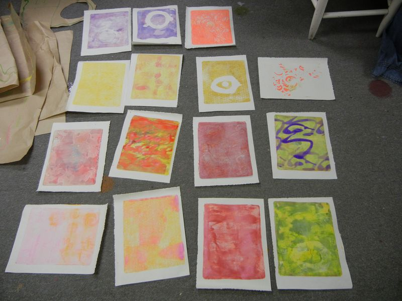 Gelli Plate Monoprints