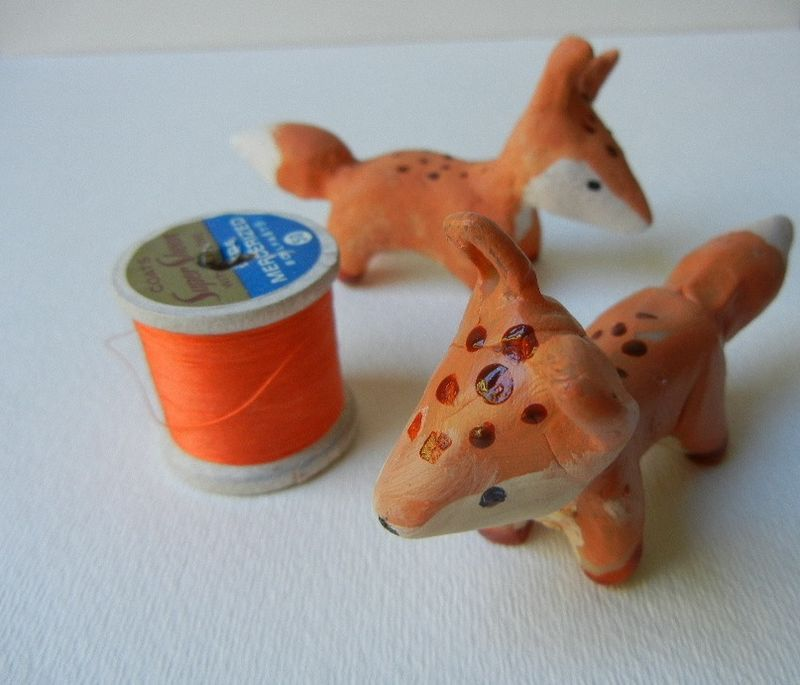 Foxes circling the spool