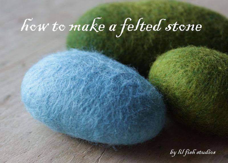 How to felt stone